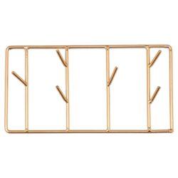 patère métal rectangle