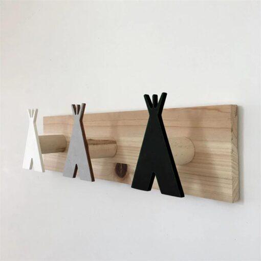 Patère bois tipi