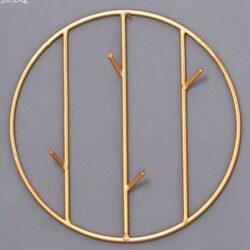 Patère métal rond et rectangle