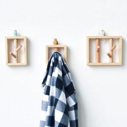patère en bois