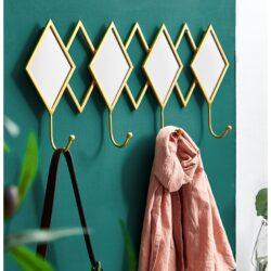 Porte-manteau mural avec miroir