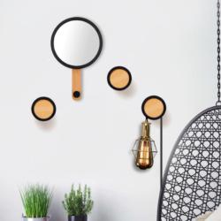 décoration patère miroir