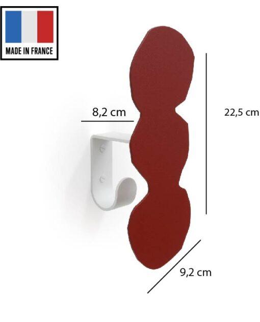 patère acier coloré 5