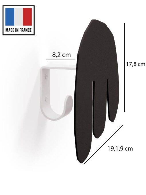 patère acier noir pièce 2
