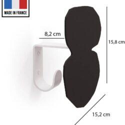 patère acier noir pièce 4