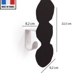 patère métal noir pièce 5